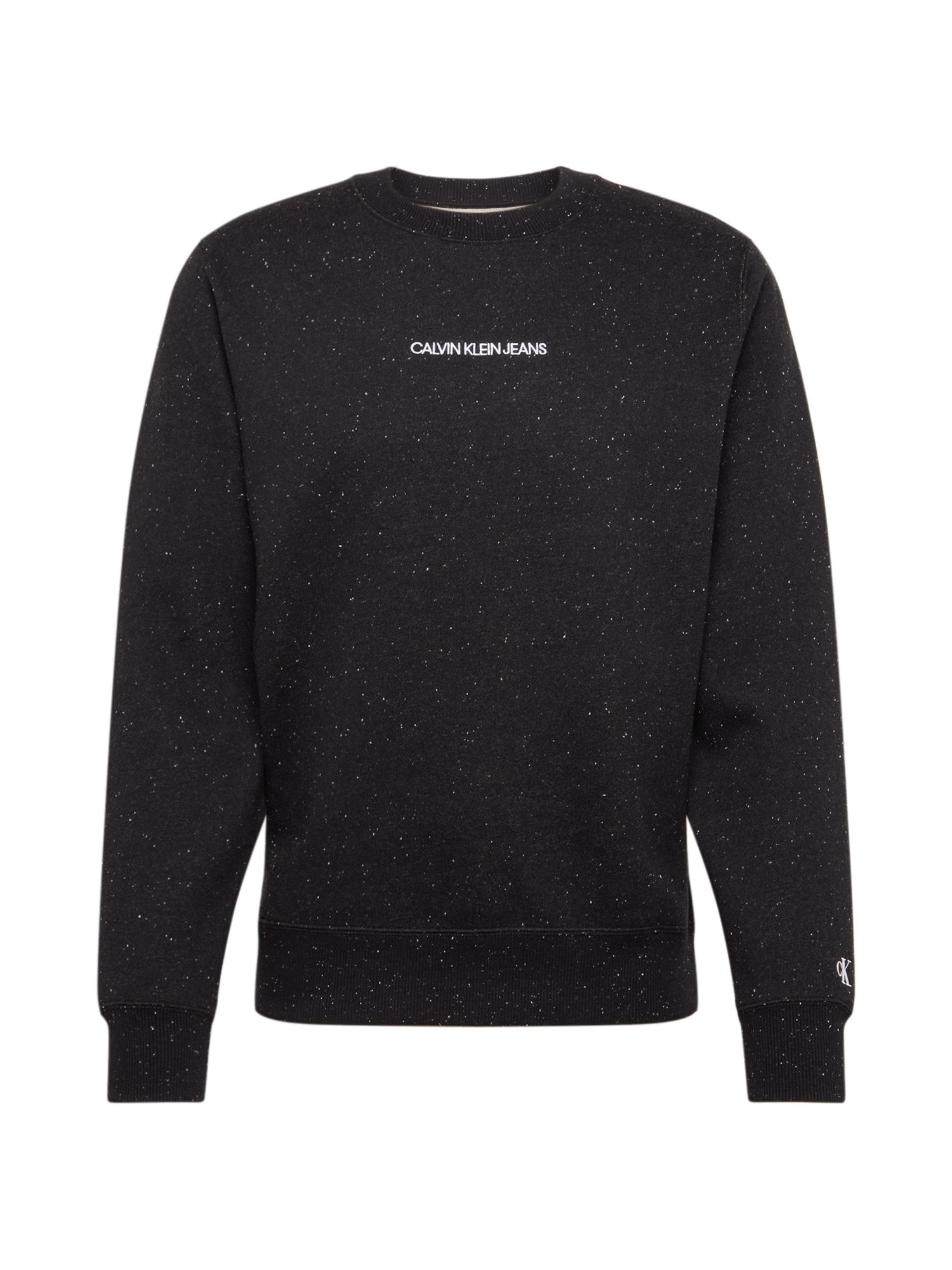 Calvin Klein Jeans Megztinis be užsegimo 'NAPS' juoda