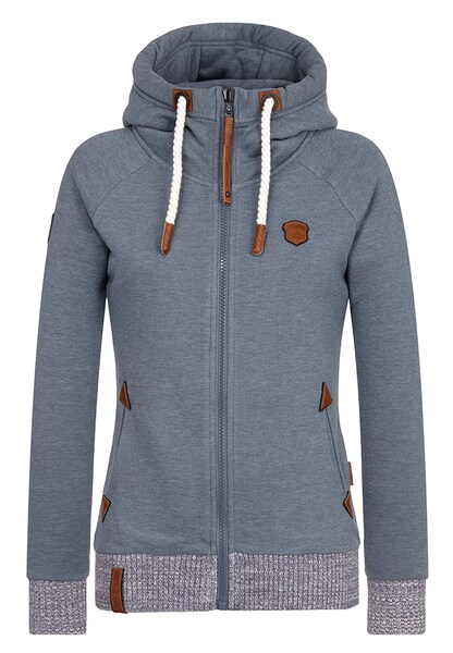 Jacken für Frauen - Naketano Female Zipped Jacket 'Every world knows it III' grau  - Onlineshop ABOUT YOU