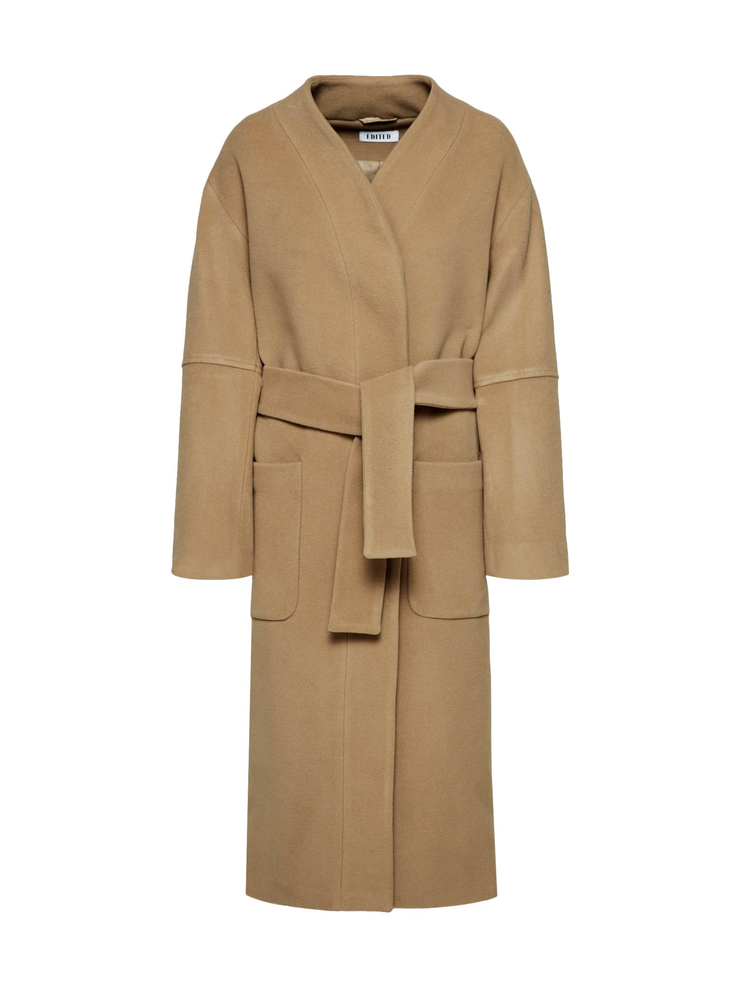 EDITED Žieminis paltas 'Nola' tamsiai smėlinė