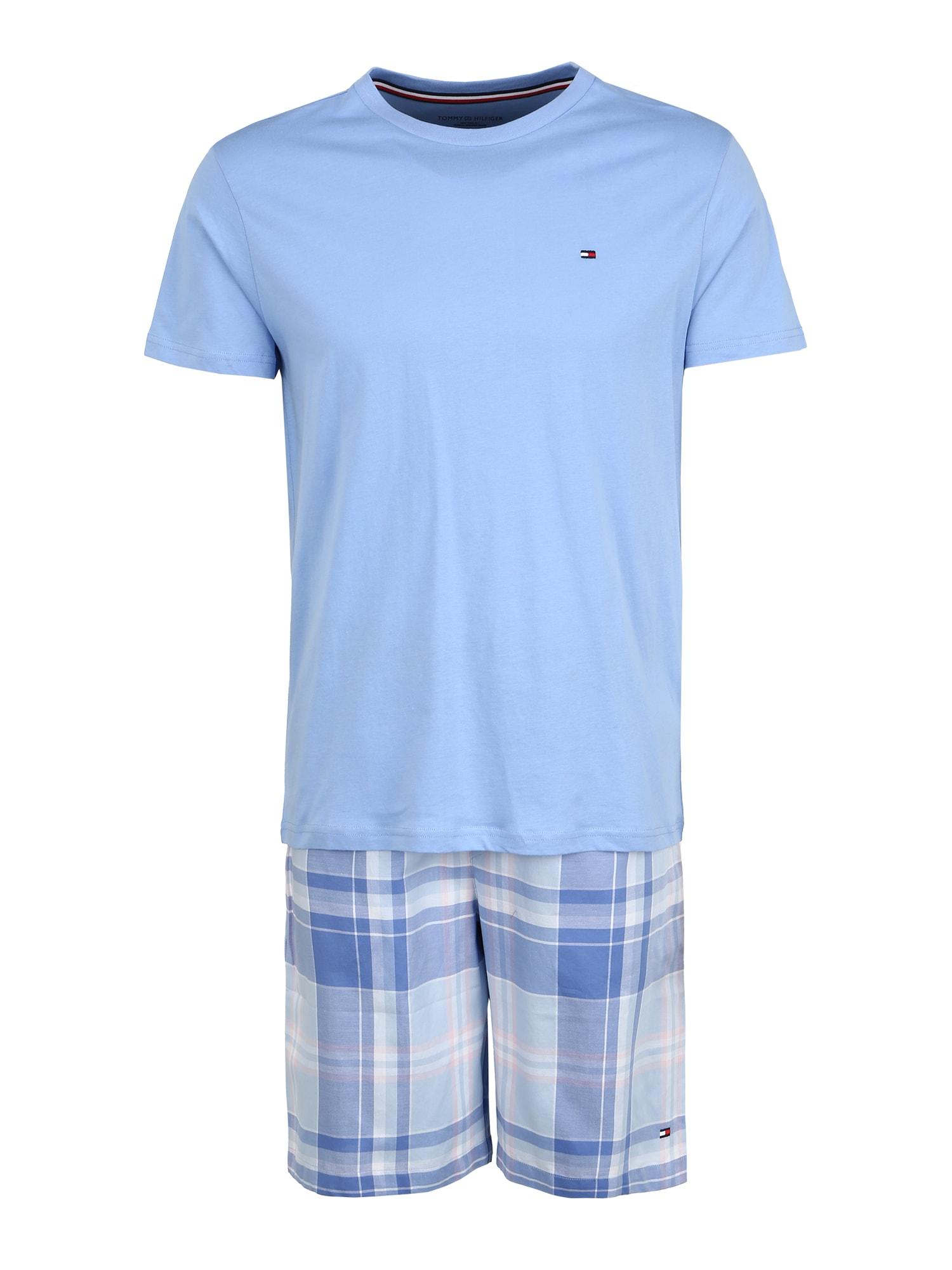 Tommy Hilfiger Underwear Trumpa pižama šviesiai mėlyna