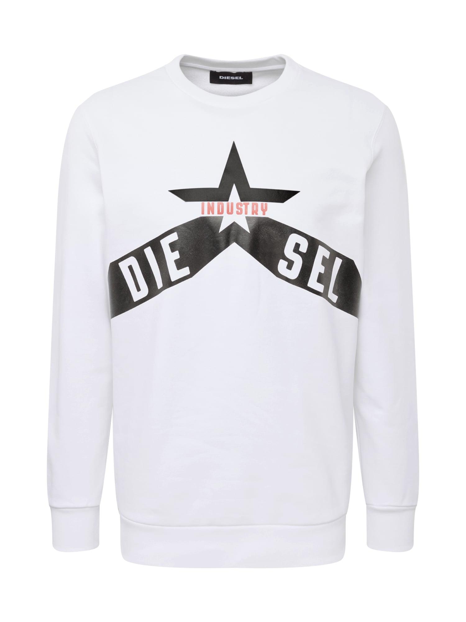 DIESEL Megztinis be užsegimo 'S-GIR-A2' raudona / juoda / balta