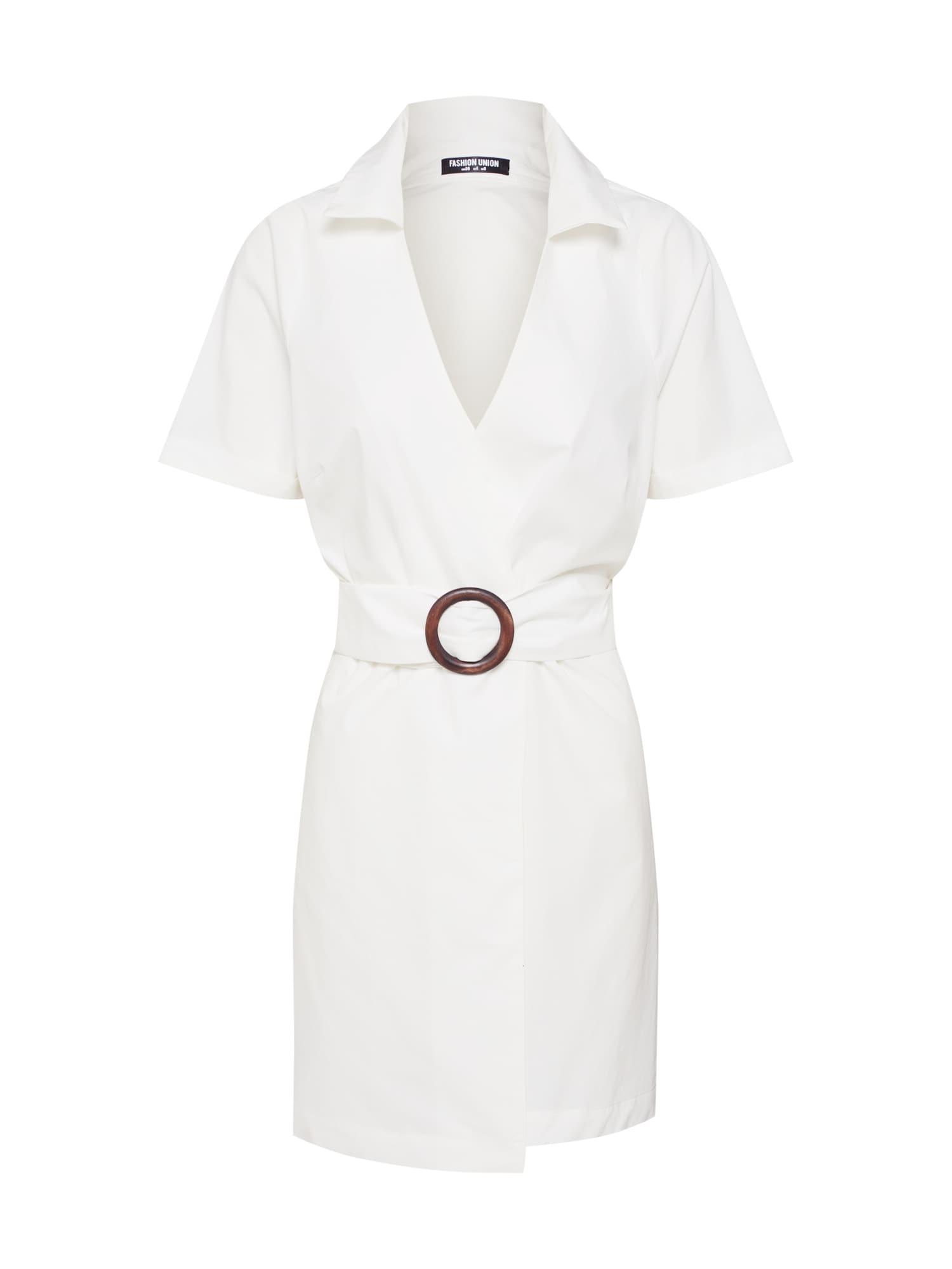 Šaty RAPPER bílá Fashion Union
