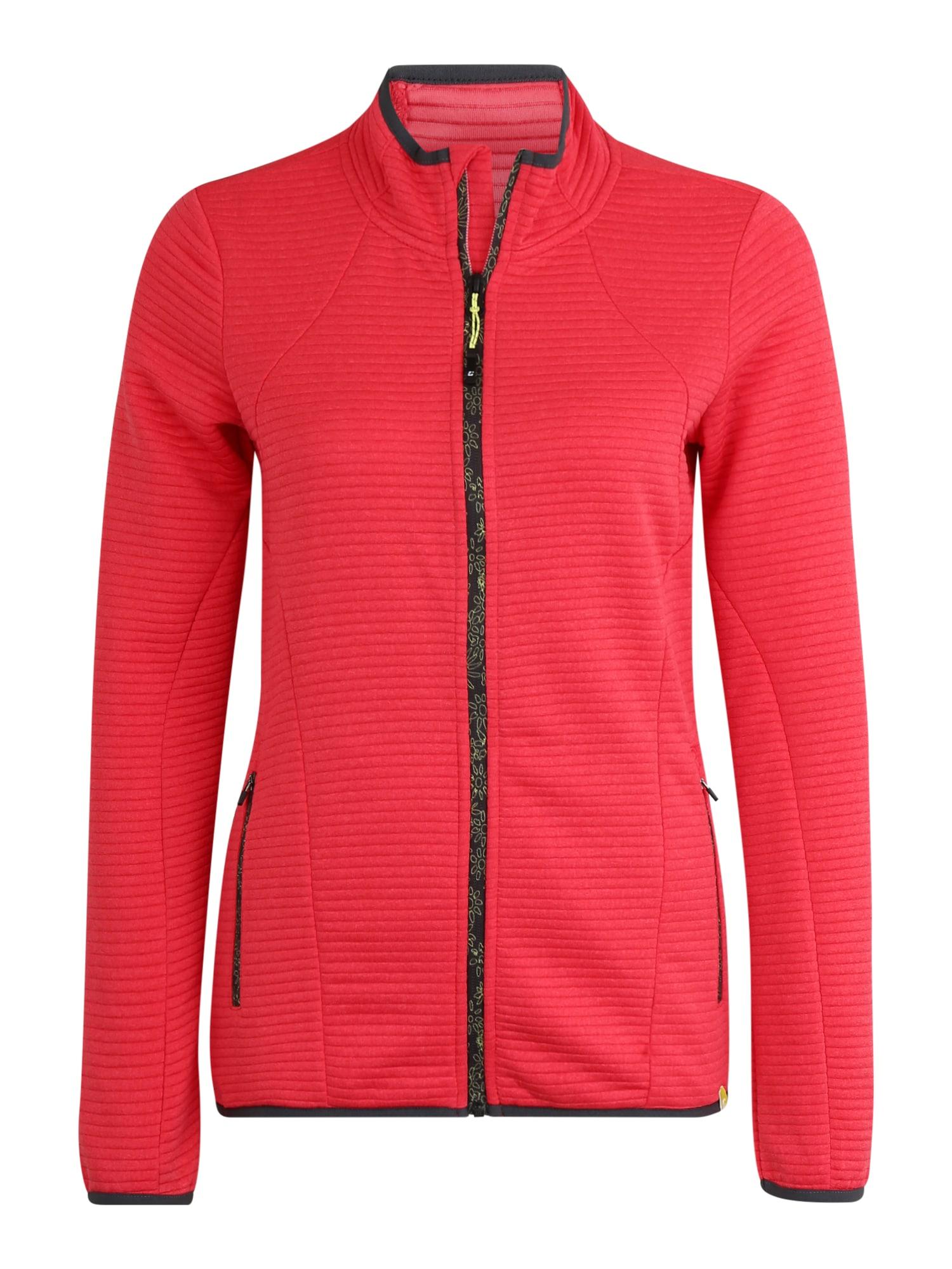 KILLTEC Sportinio tipo megztinis 'Vicana' spanguolių spalva