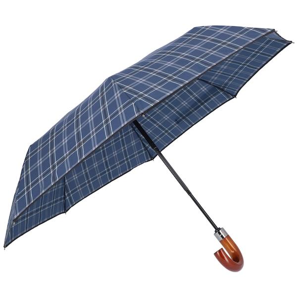 Regenschirme für Frauen - SAMSONITE Regenschirm 'Wood Classic S' himmelblau dunkelgrau weiß  - Onlineshop ABOUT YOU