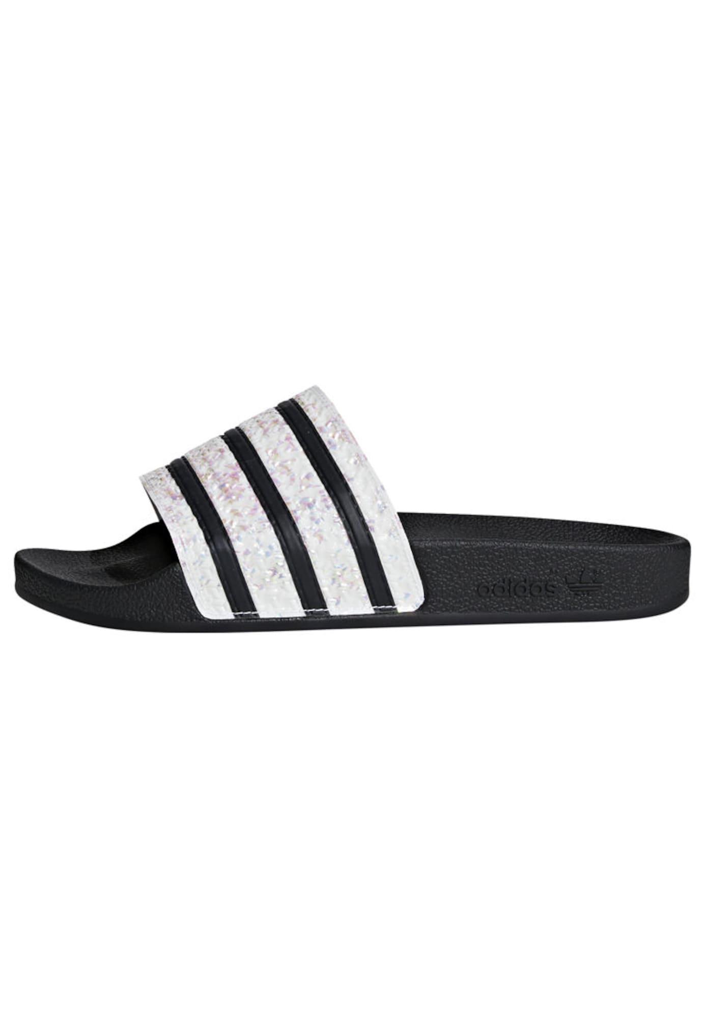 ADIDAS ORIGINALS Pantofle  černá / bílá