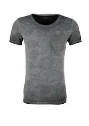 Q/S Designed By Herren T-Shirt mit? Burn-Out-Print grau | 04056523612653