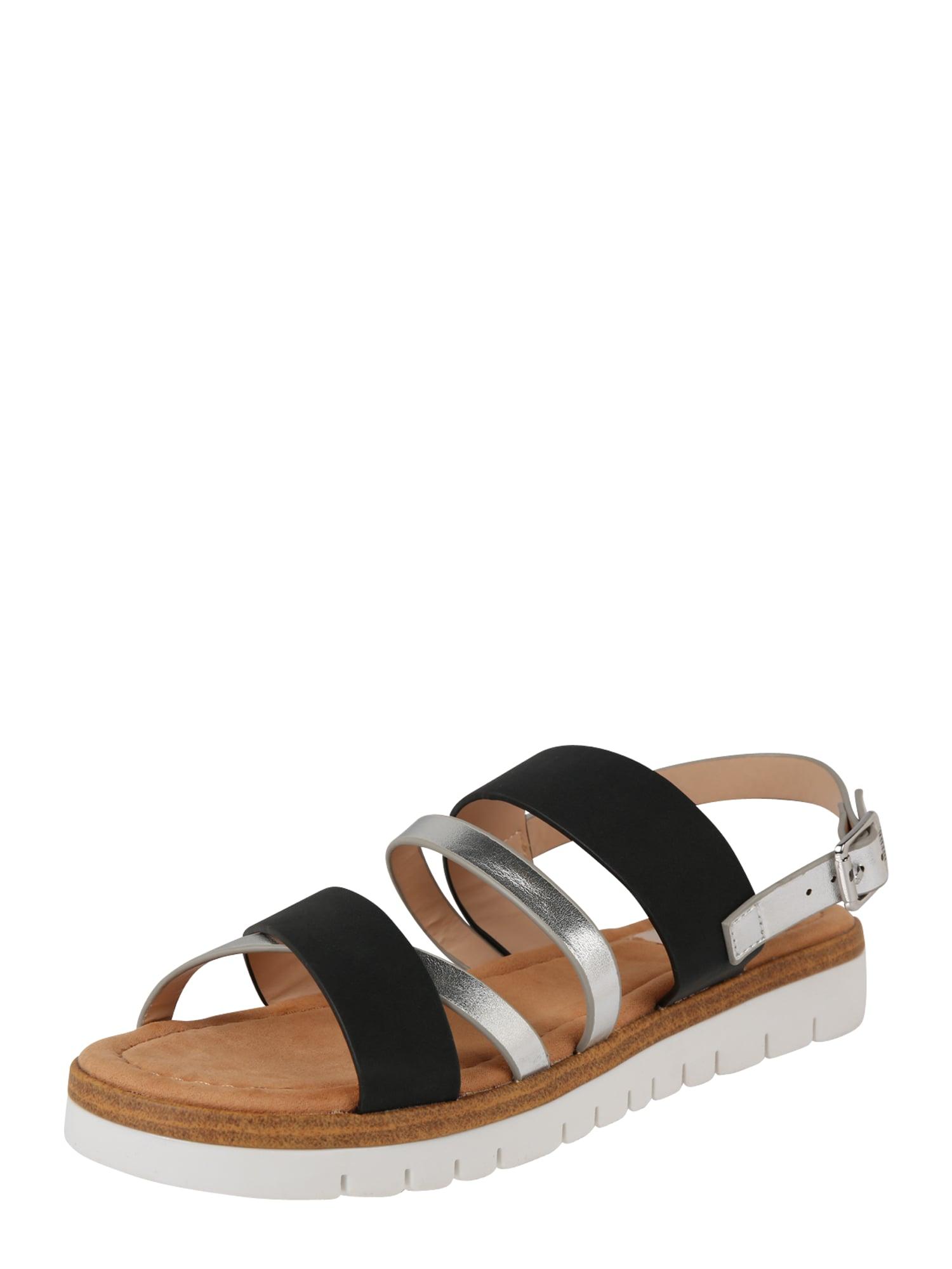 Sandály DAMA černá stříbrná MTNG