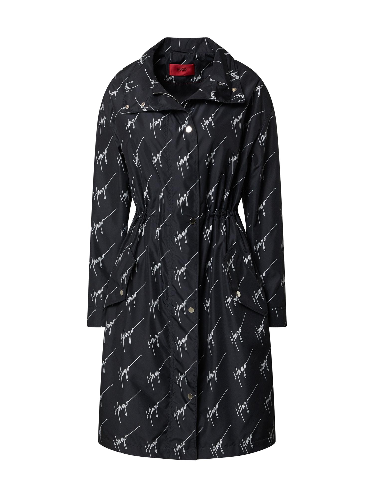 HUGO Rudeninis-žieminis paltas 'Felin' balta / juoda
