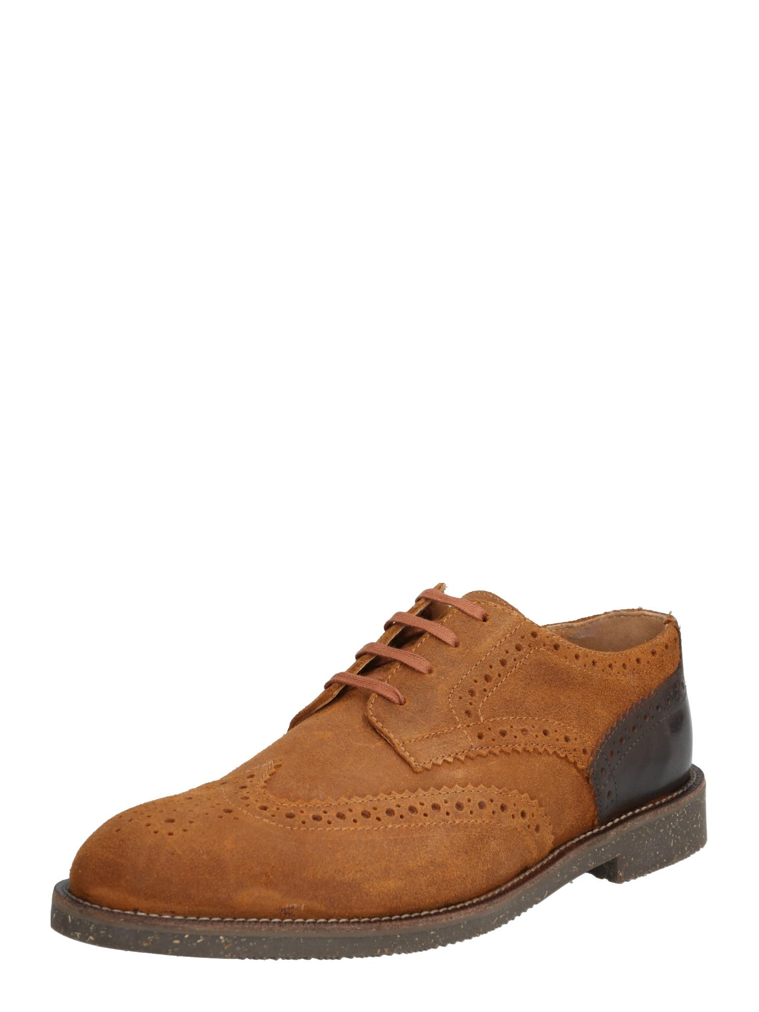 Hudson London Športové šnurovacie topánky 'KARTER BROG W'  hnedá