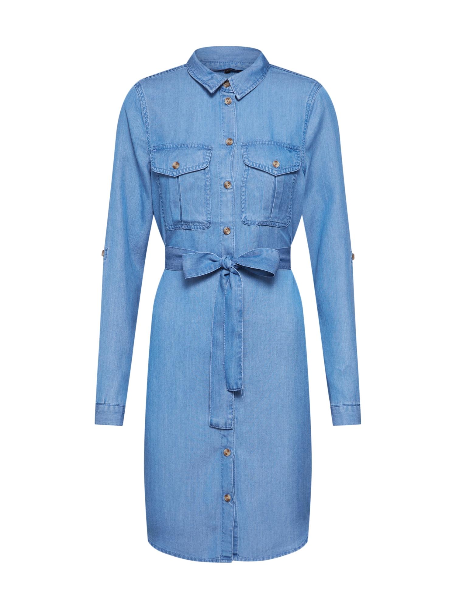VERO MODA Suknelė 'MIA' tamsiai (džinso) mėlyna