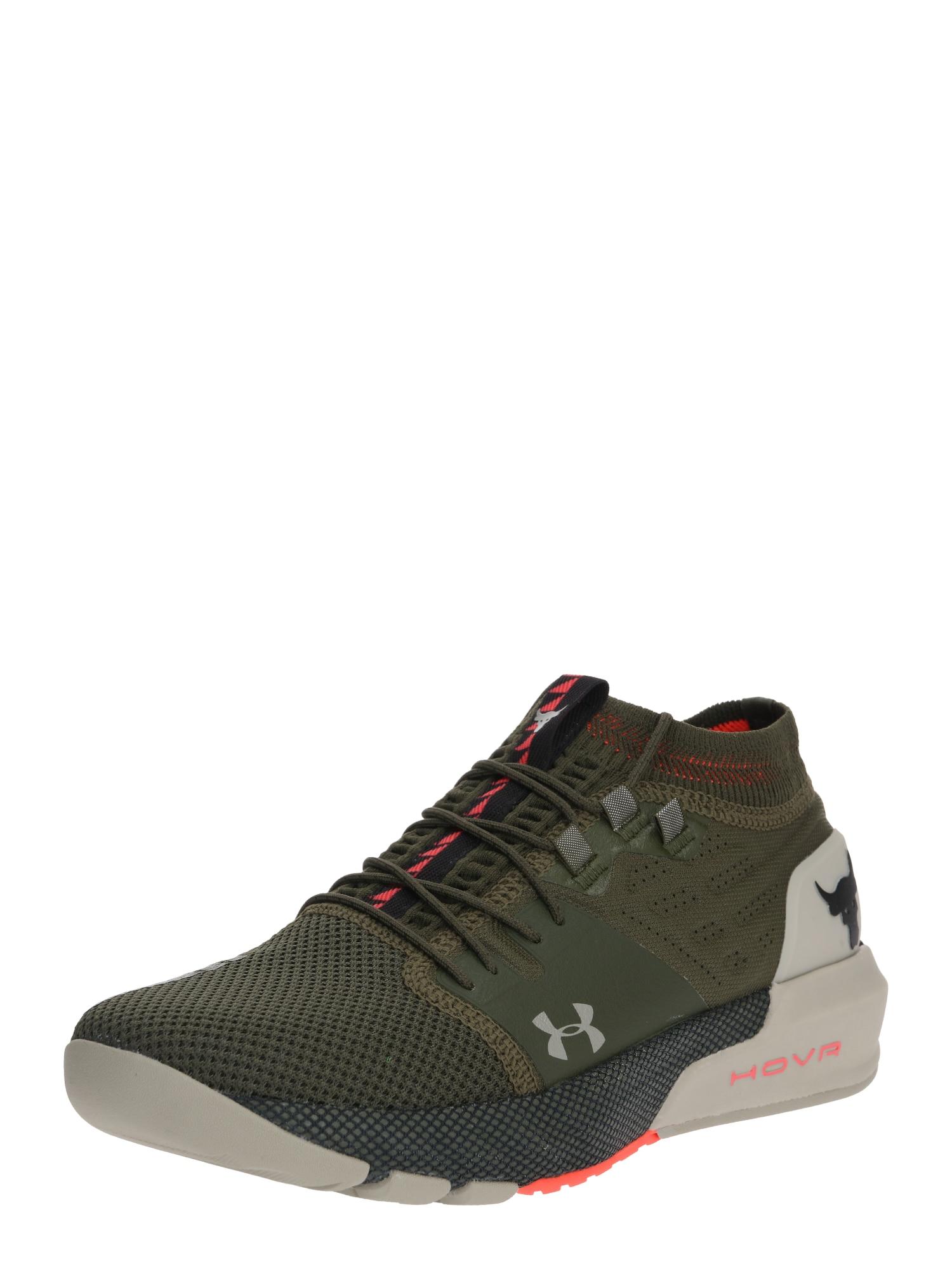 UNDER ARMOUR Sportiniai batai 'UA Project Rock 2' ruda / rusvai žalia