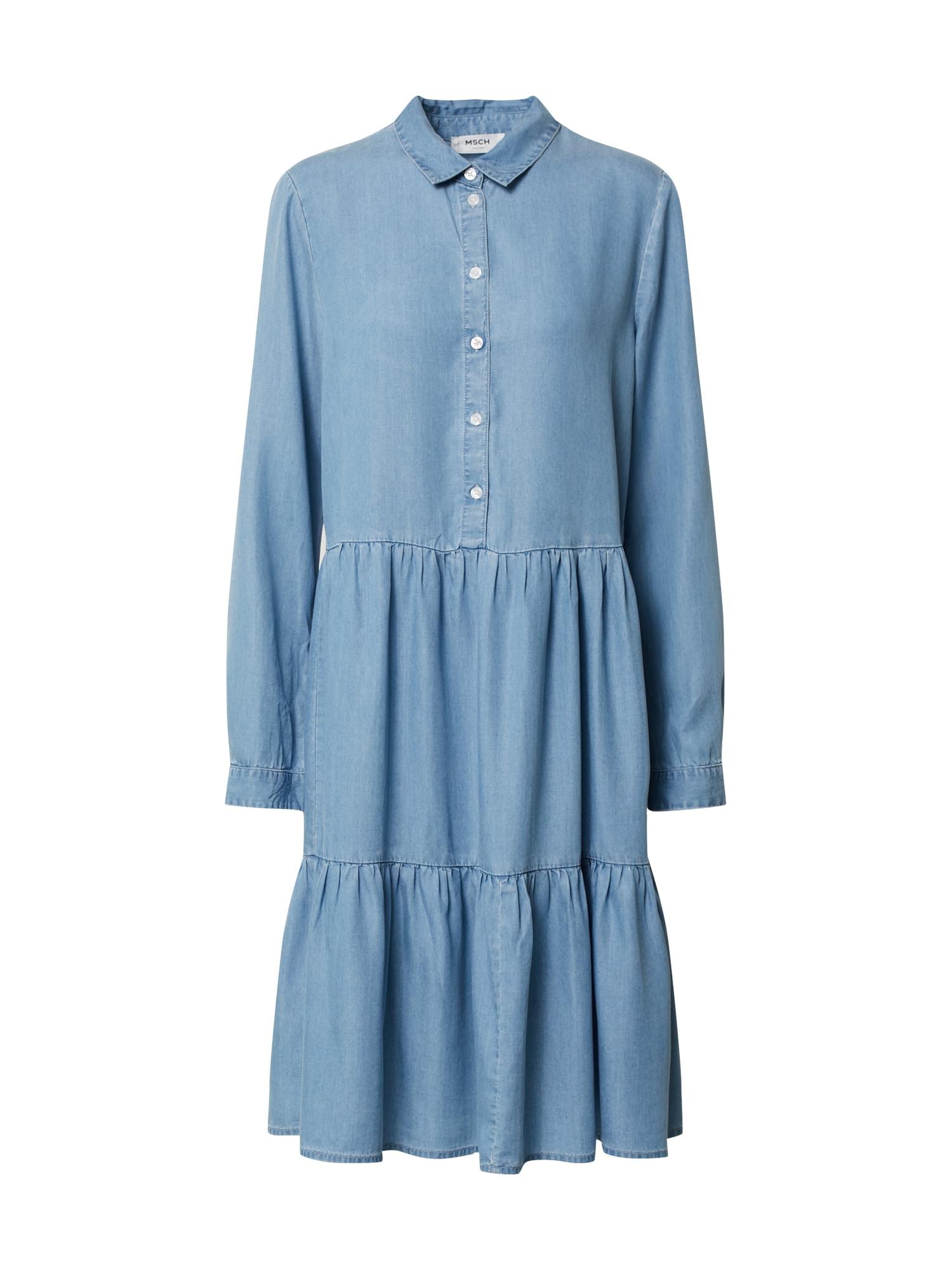 MOSS COPENHAGEN Košeľové šaty 'Philippa'  modrá denim