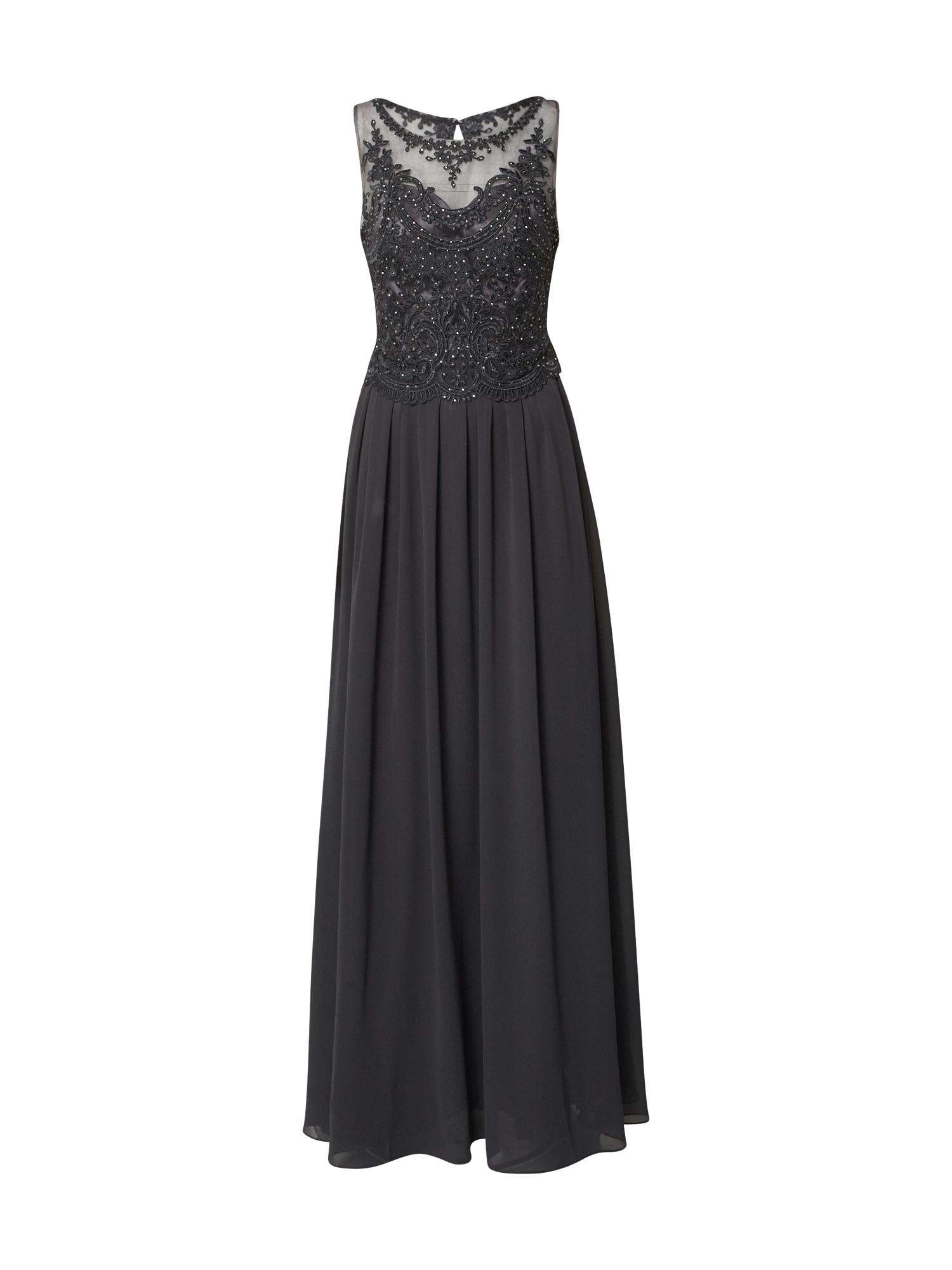 mascara Vakarinė suknelė juoda / antracito / tamsiai pilka