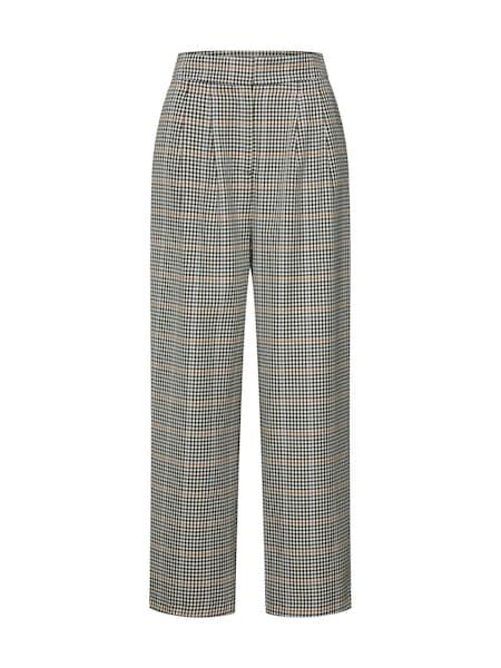Hosen für Frauen - JUST FEMALE Hose 'Holmes wide trousers' beige dunkelgrau  - Onlineshop ABOUT YOU
