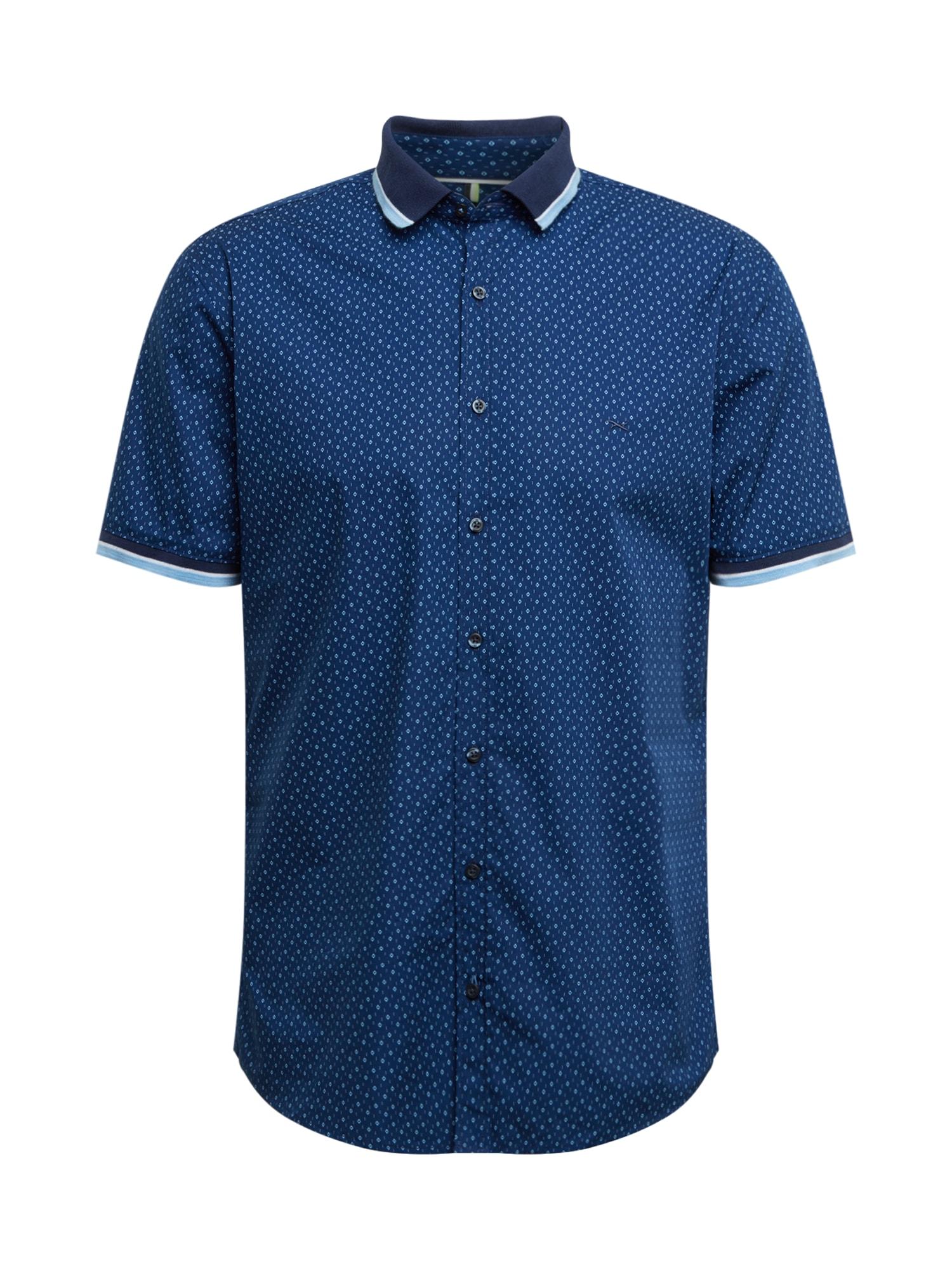BRAX Dalykiniai marškiniai 'Luke' tamsiai mėlyna