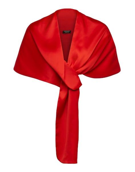 Schals für Frauen - APART Satin Stola mit verschiedenen Tragevarianten knallrot  - Onlineshop ABOUT YOU