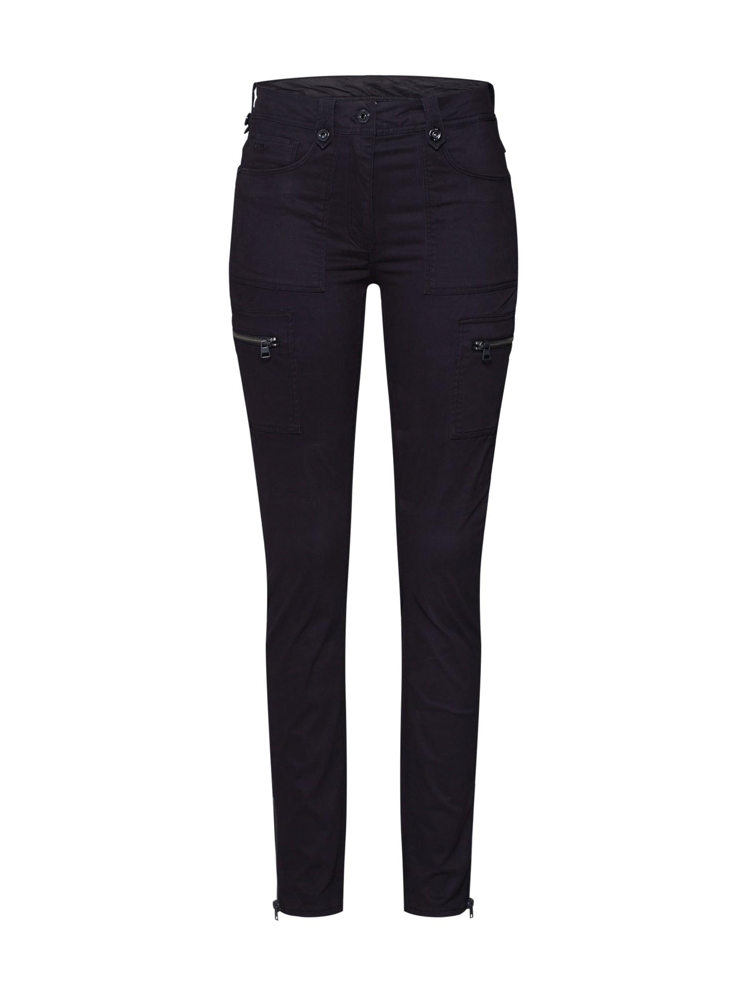 G-Star RAW Laisvo stiliaus kelnės 'Kerf cargo' juoda
