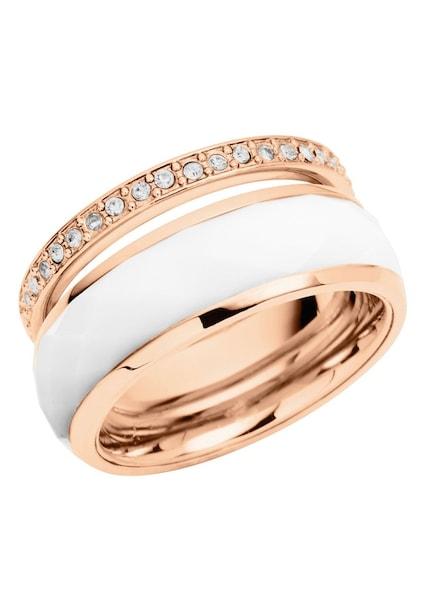 Schmucksets für Frauen - FOSSIL Schmuckset Ringe mit Glassteinen und Zirkonia (2tlg.) rosegold weiß  - Onlineshop ABOUT YOU