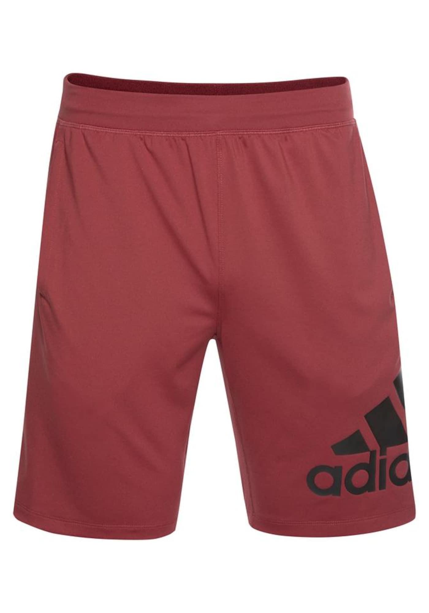 ADIDAS PERFORMANCE Sportinės kelnės vyšninė spalva / juoda