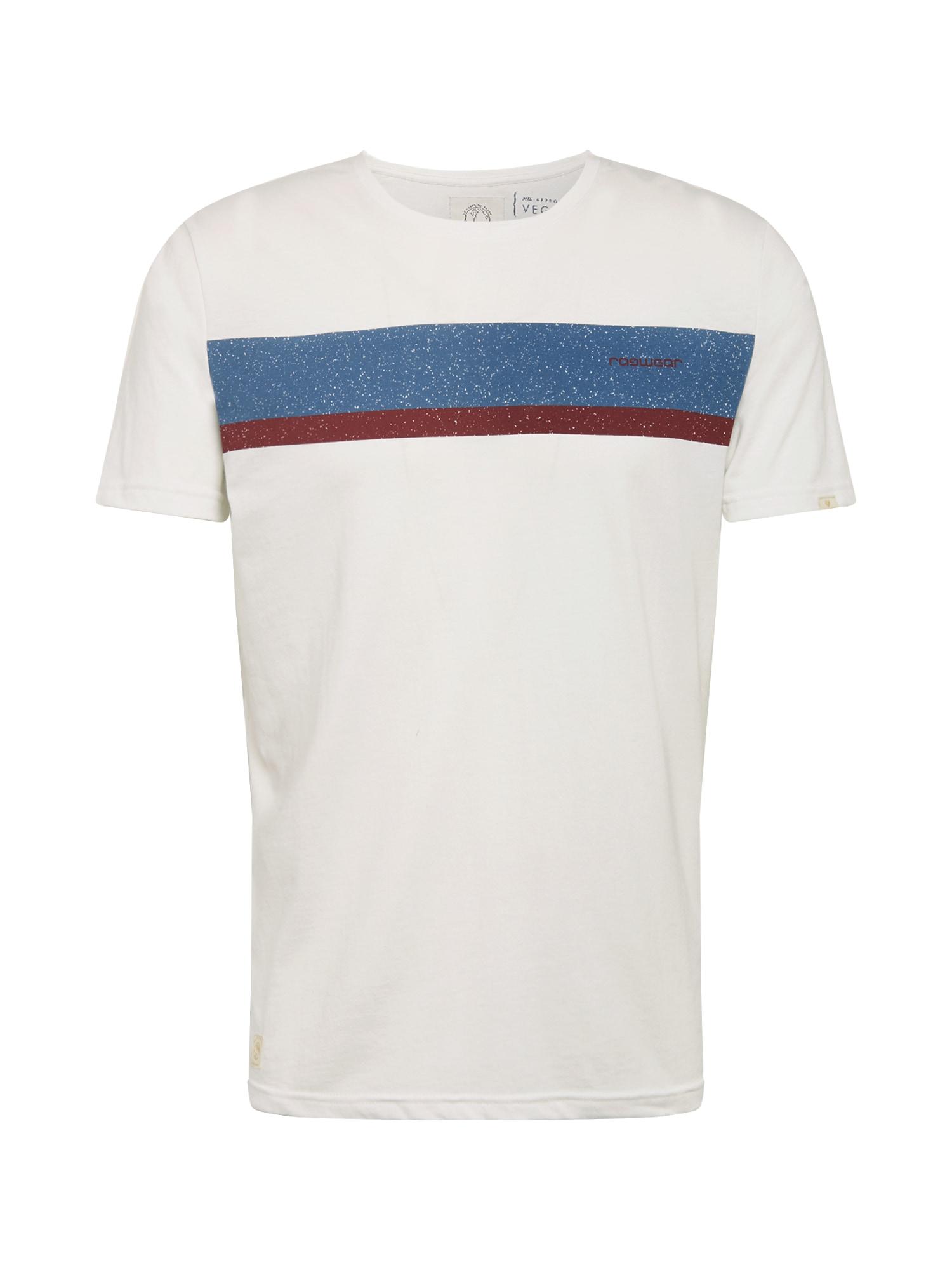 Ragwear Tricou 'Hake Organic'  albastru fum / roșu carmin / alb
