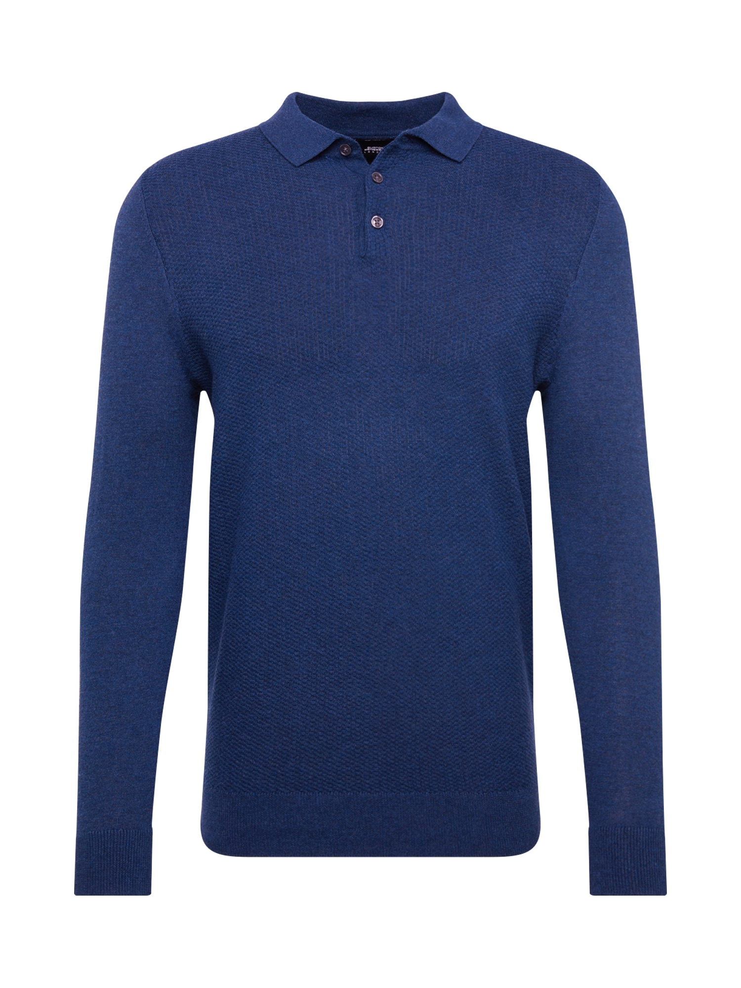 BURTON MENSWEAR LONDON Megztinis 'jordan textured polo rich blue' mėlyna