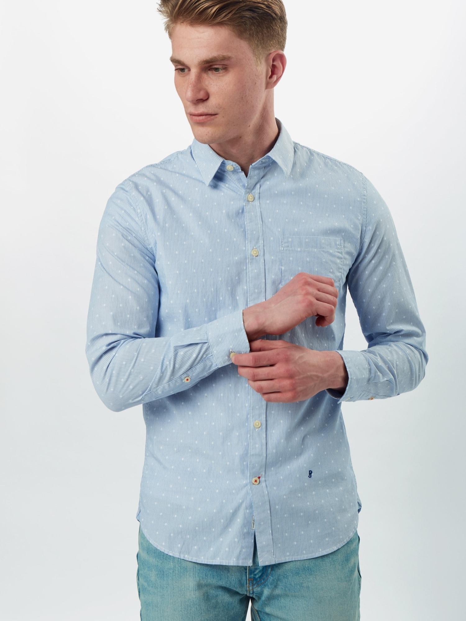 Pepe Jeans Skjorta 'ARTHUR'  blå / vit