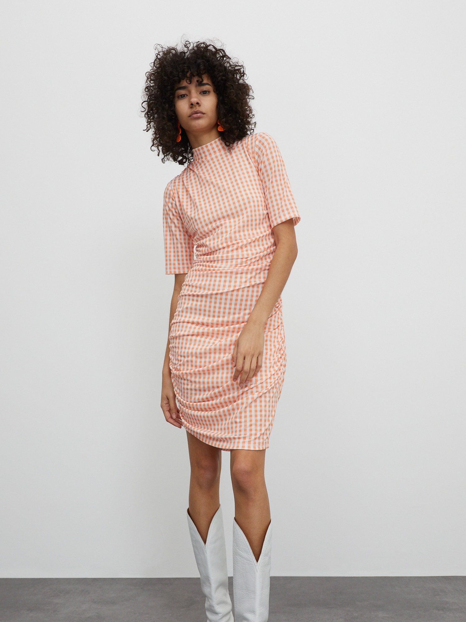 EDITED Suknelė 'Nessa' kremo / oranžinė