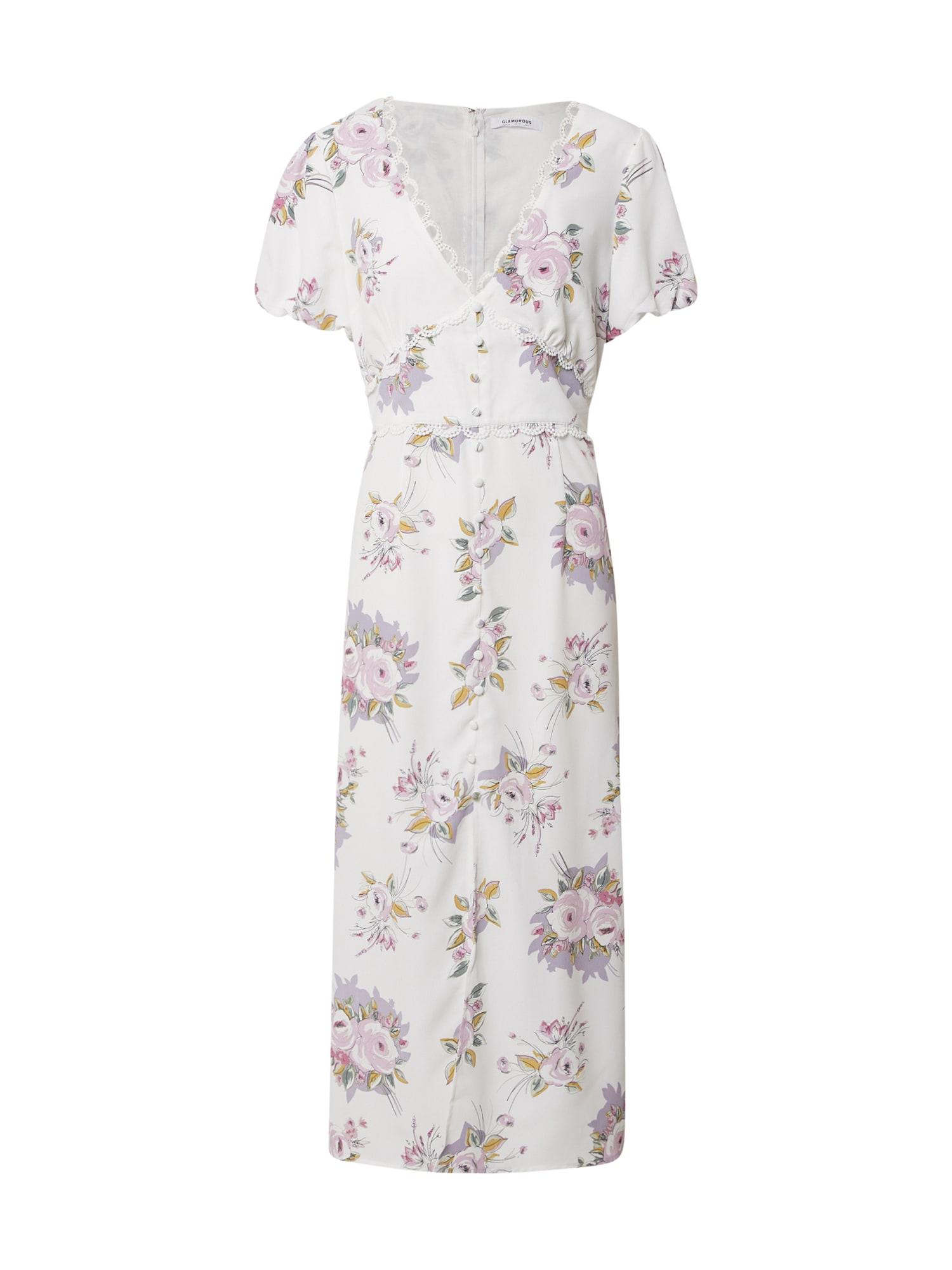 GLAMOROUS Vasarinė suknelė rožių spalva / balta