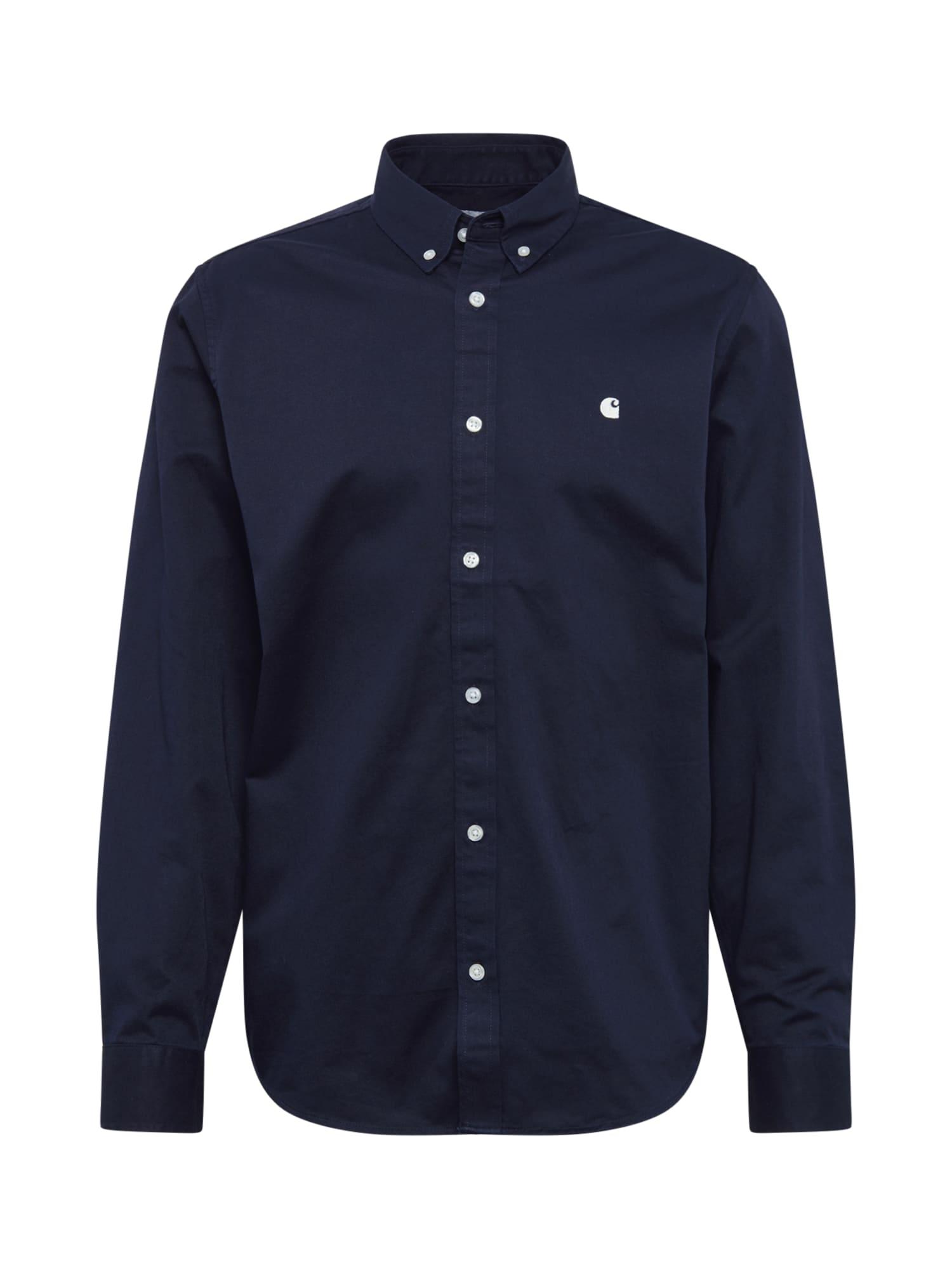 Carhartt WIP Dalykiniai marškiniai 'Madison' tamsiai mėlyna