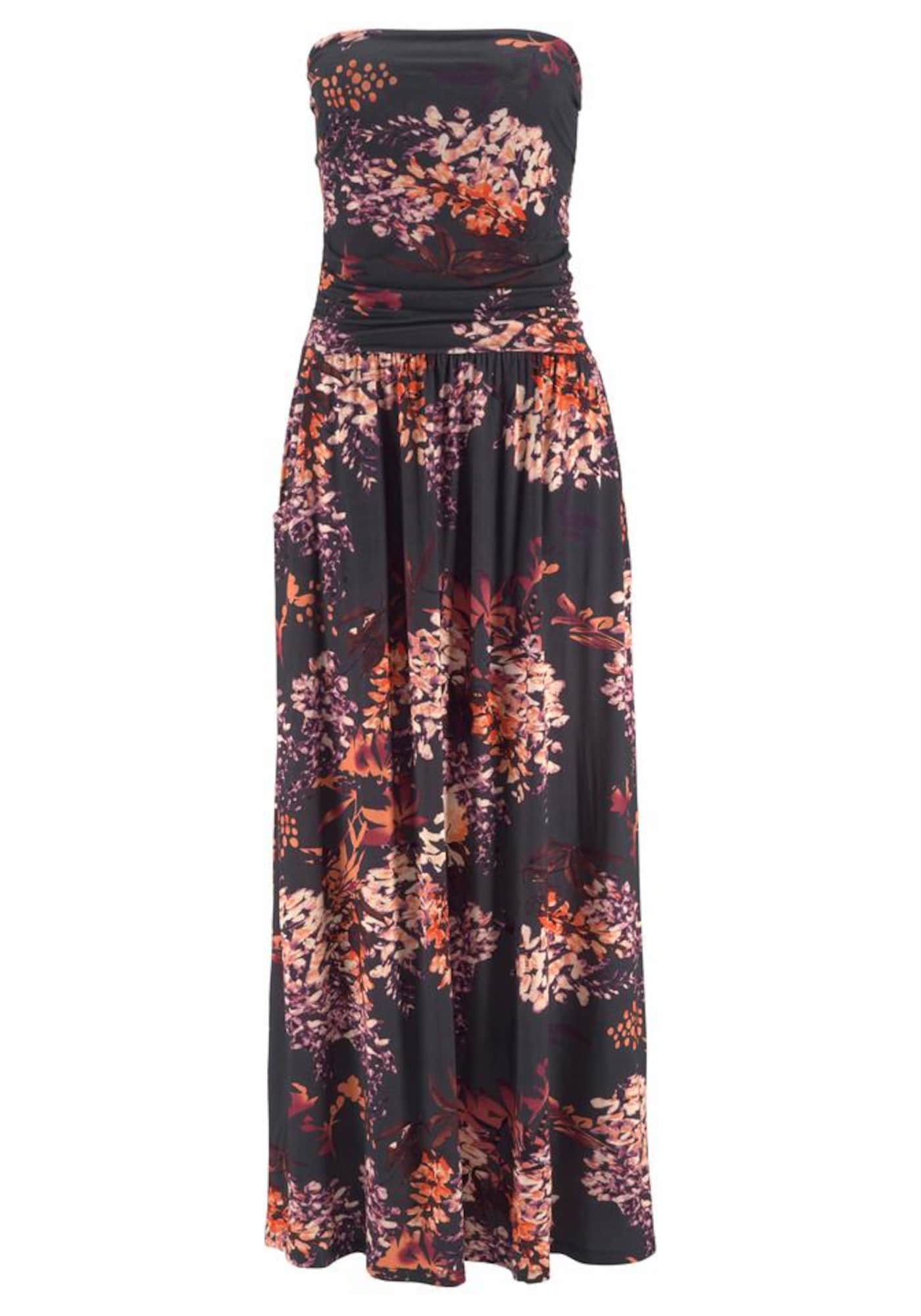 LASCANA Paplūdimio suknelė juoda / mišrios spalvos