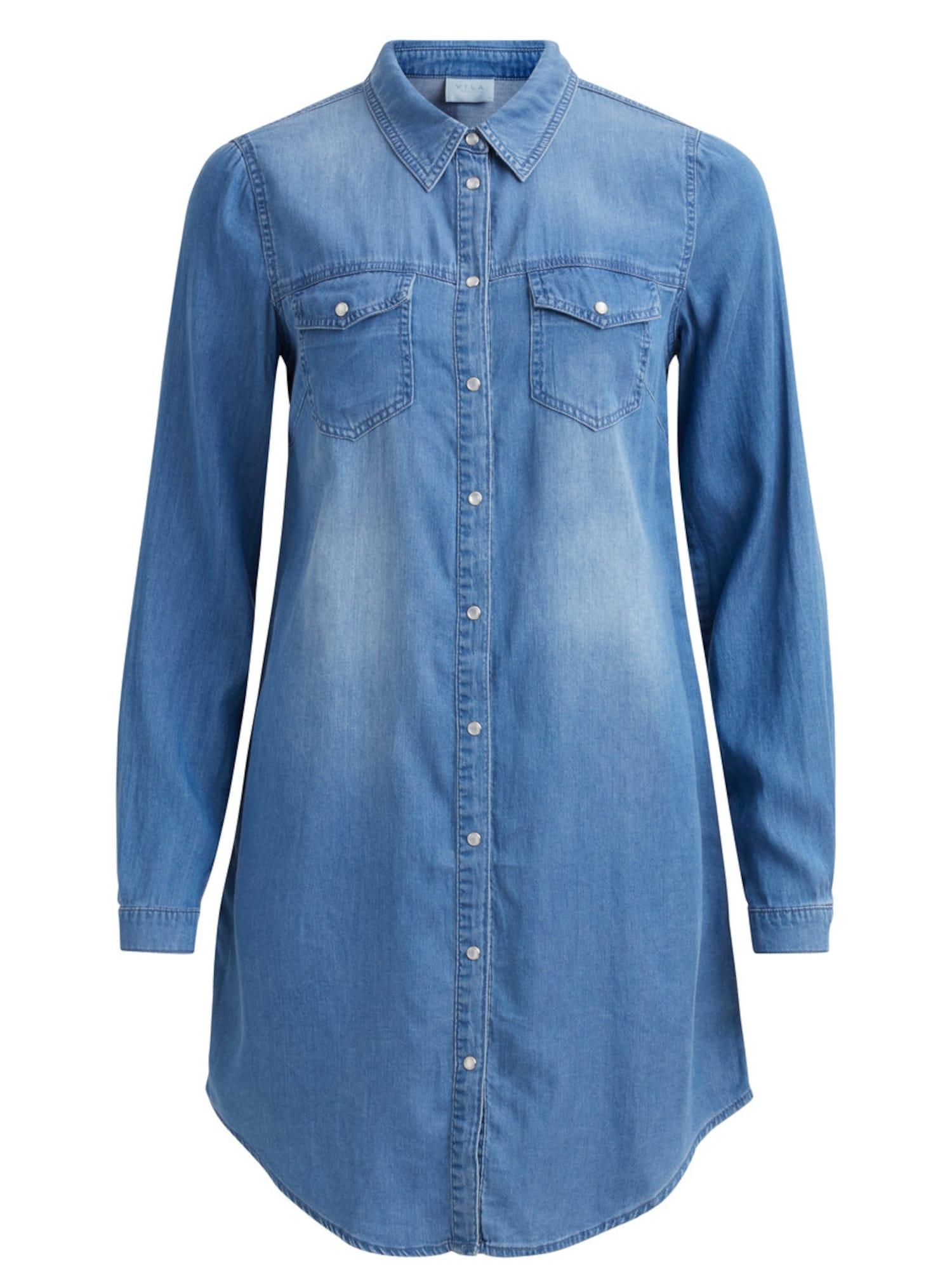 VILA Palaidinės tipo suknelė tamsiai (džinso) mėlyna