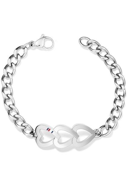 Armbaender für Frauen - Armband 'Herzen Classic Signature' › Tommy Hilfiger › silbergrau  - Onlineshop ABOUT YOU