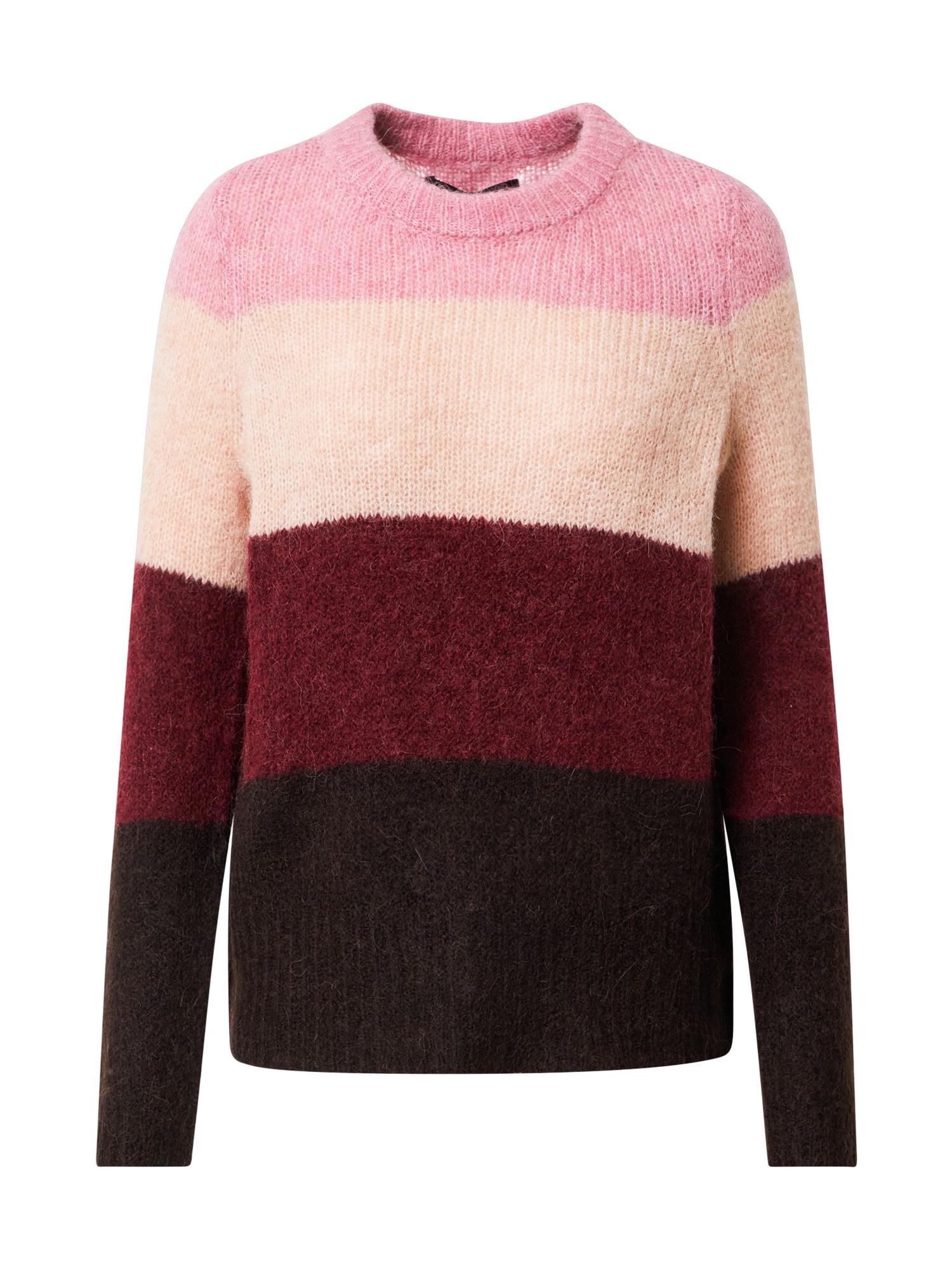 VERO MODA Svetr  červená / růžová / pink / hnědá