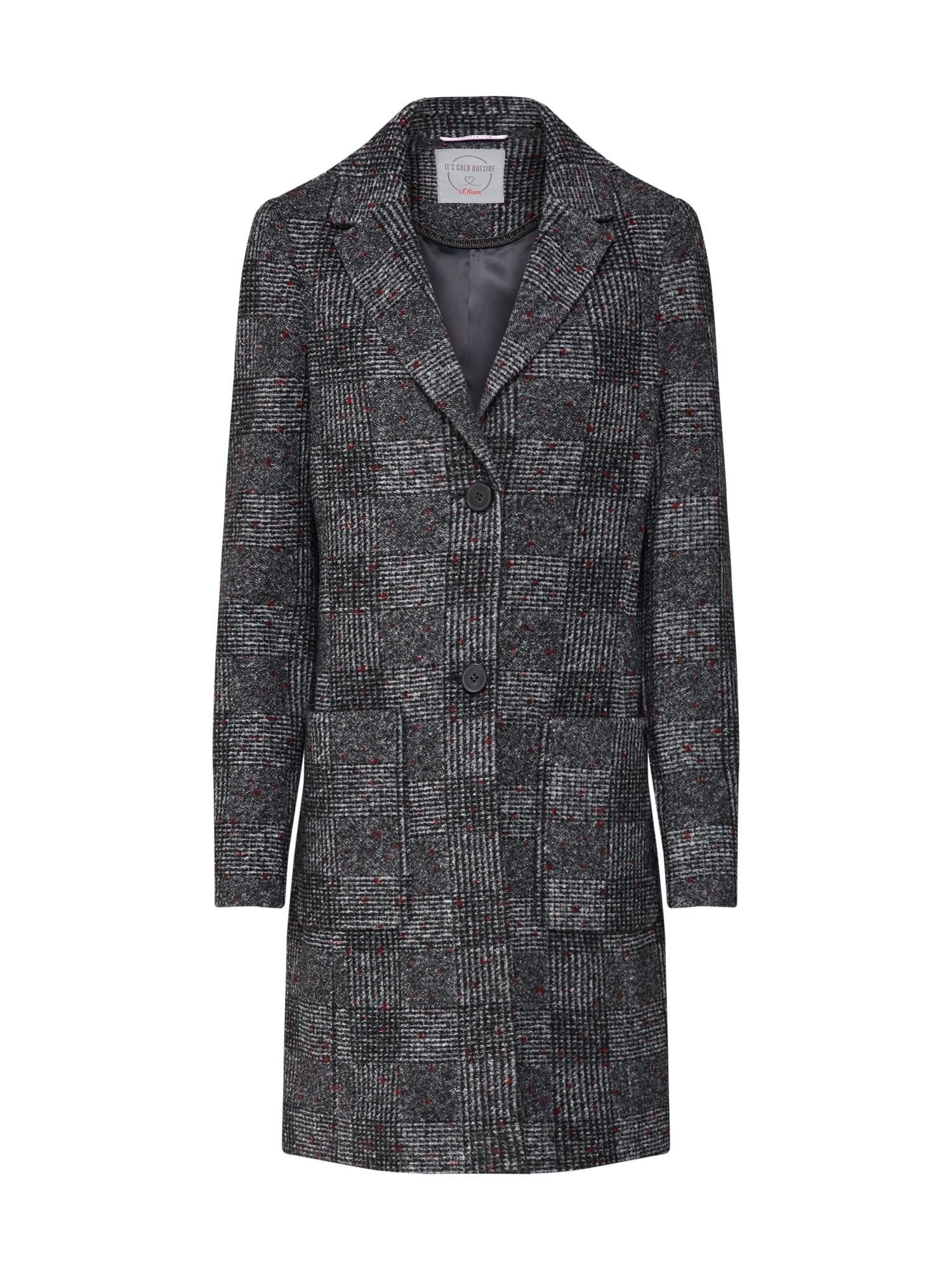 s.Oliver Átmeneti kabátok  szürke melír / piros / fekete melír