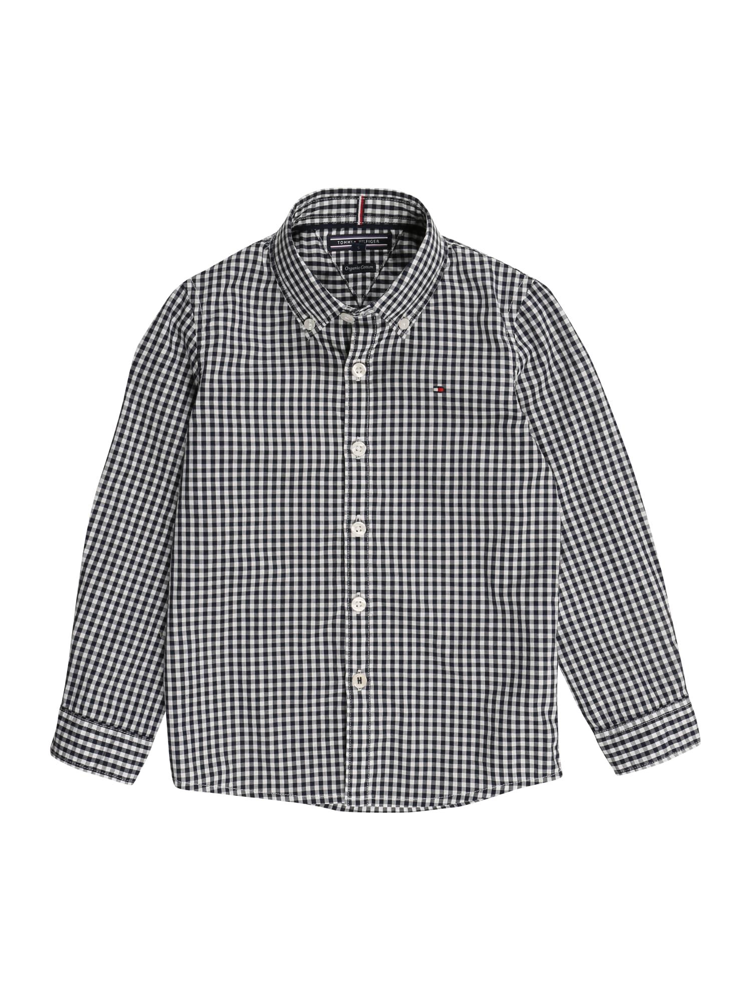 TOMMY HILFIGER Dalykiniai marškiniai 'GINGHAM' balta