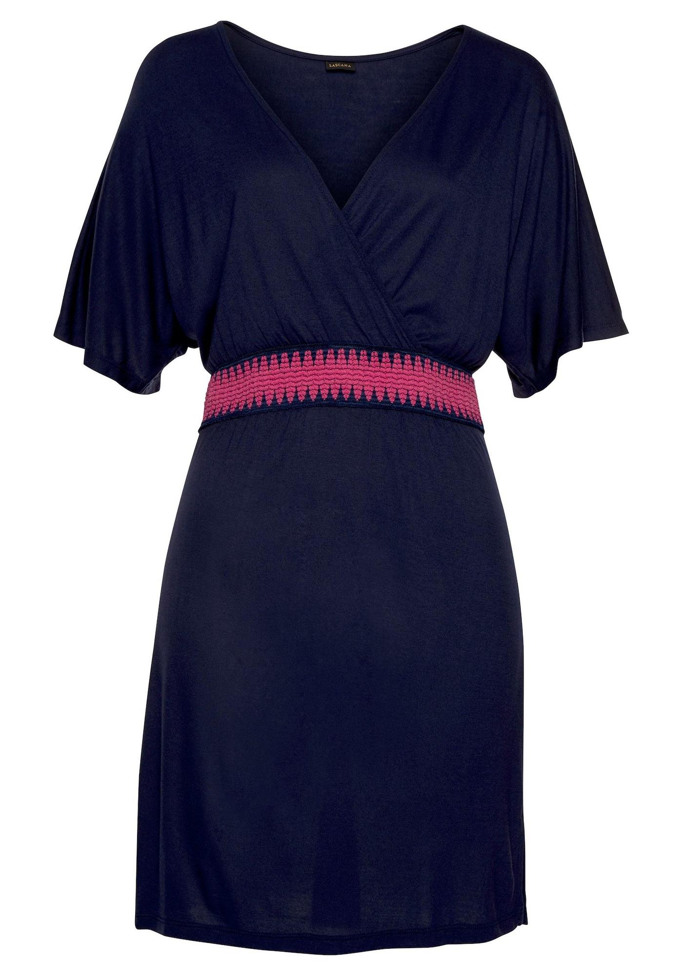LASCANA Paplūdimio suknelė tamsiai mėlyna jūros spalva