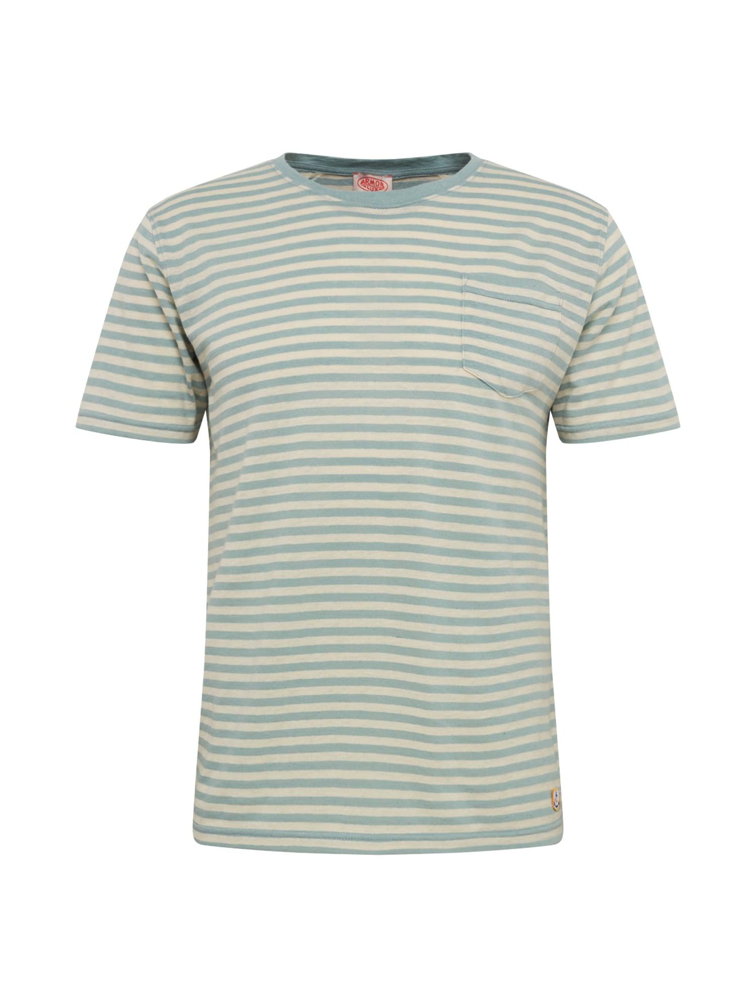 Armor Lux Marškinėliai 'Héritage' natūrali balta / šviesiai žalia