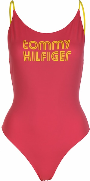 Bademode - Badeanzug ' W ' › Tommy Hilfiger › rot gelb  - Onlineshop ABOUT YOU