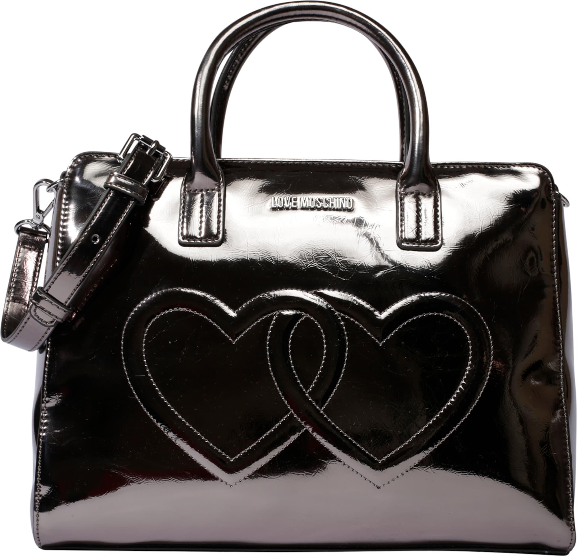 love moschino handtasche 39 embossed heart 39 in schwarz about you. Black Bedroom Furniture Sets. Home Design Ideas