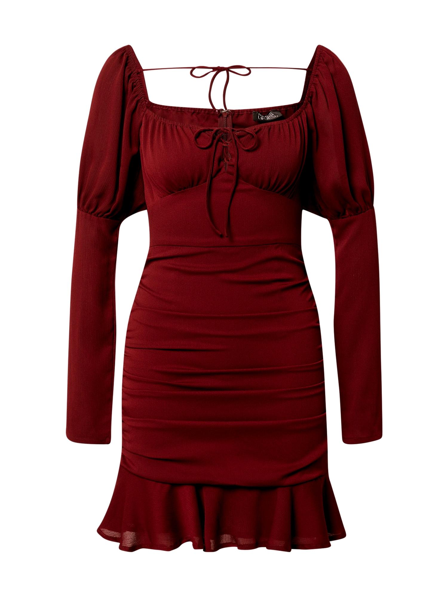 Parallel Lines Suknelė vyno raudona spalva