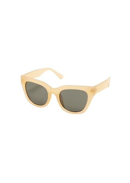 Sonnenbrillen für Frauen - MANGO Sonnenbrille 'Bibi' pastellgelb graphit  - Onlineshop ABOUT YOU