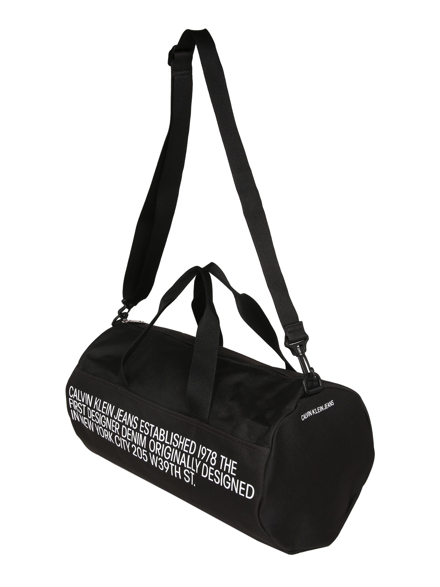 Calvin Klein Jeans Víkendová taška 'BARREL'  čierna