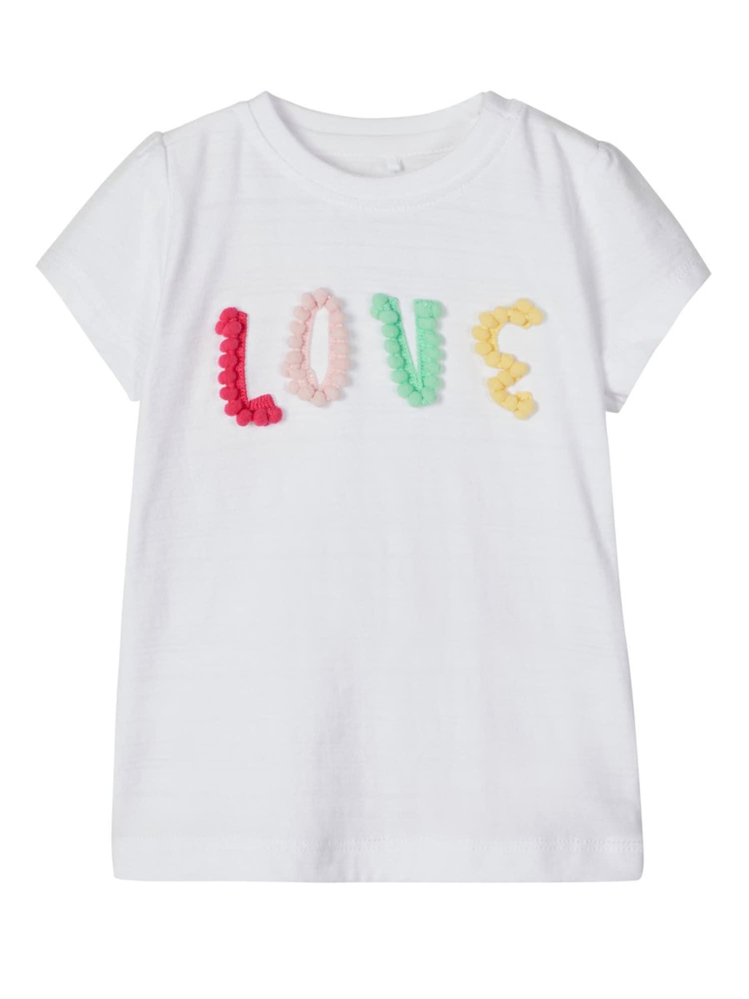 NAME IT Marškinėliai 'NBFHENNY' balta / mišrios spalvos