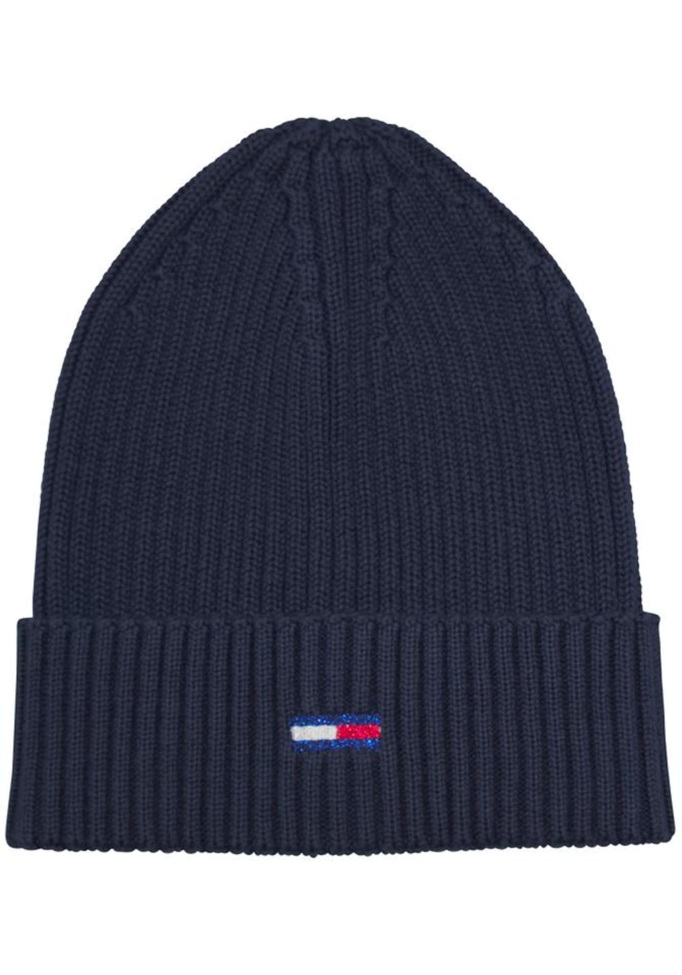 TOMMY HILFIGER Megzta kepurė mėlyna