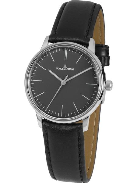 Uhren für Frauen - Jacques Lemans Damenuhr 'Retro Classic' hellbraun schwarz silber  - Onlineshop ABOUT YOU