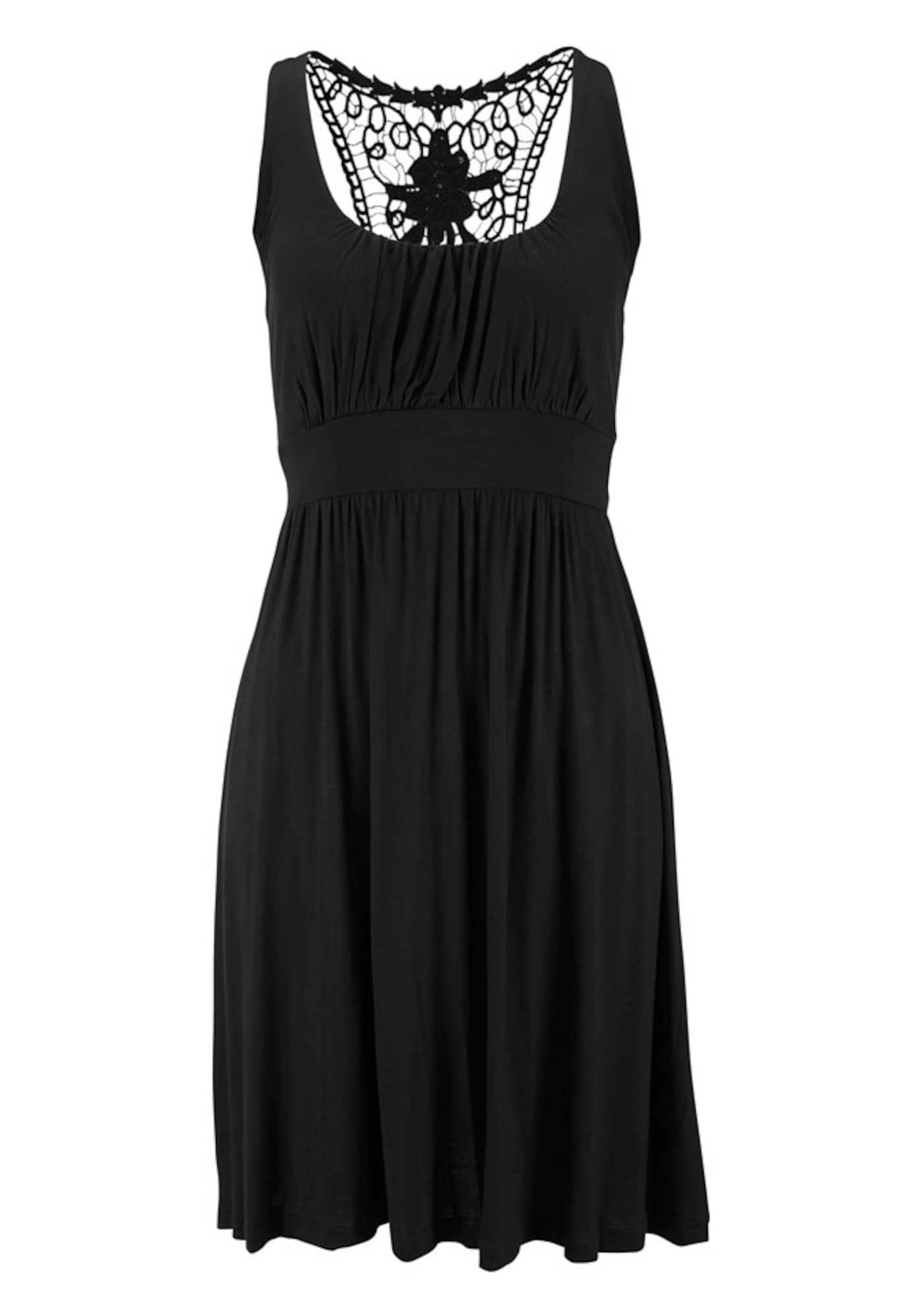 Plážové šaty černá LASCANA