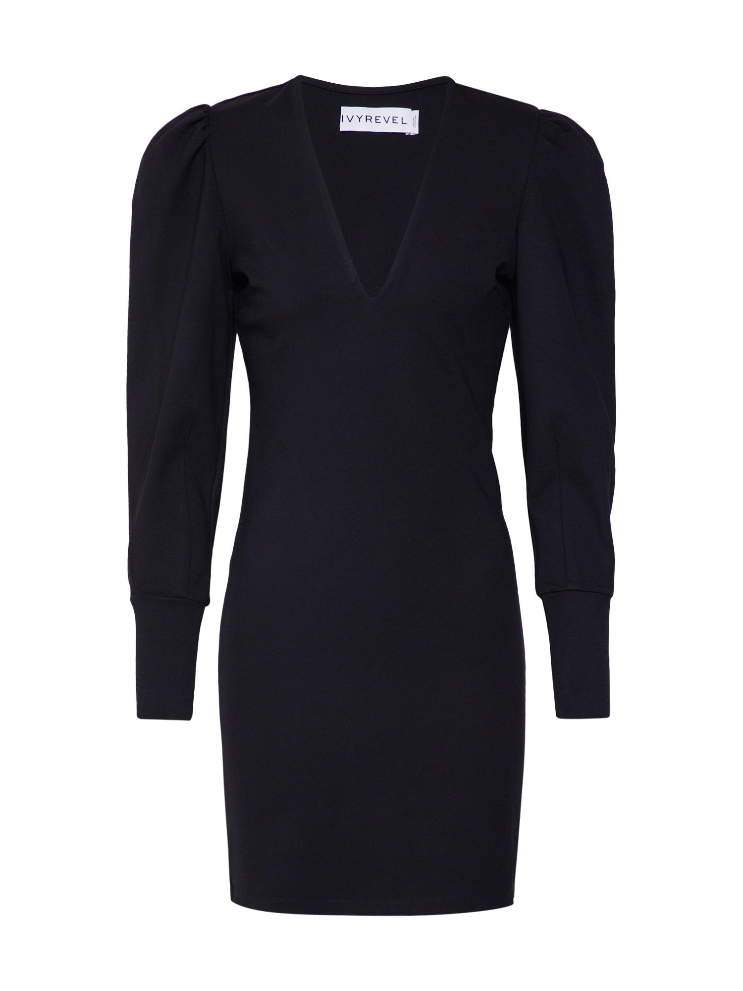 IVYREVEL Koktejlové šaty černé