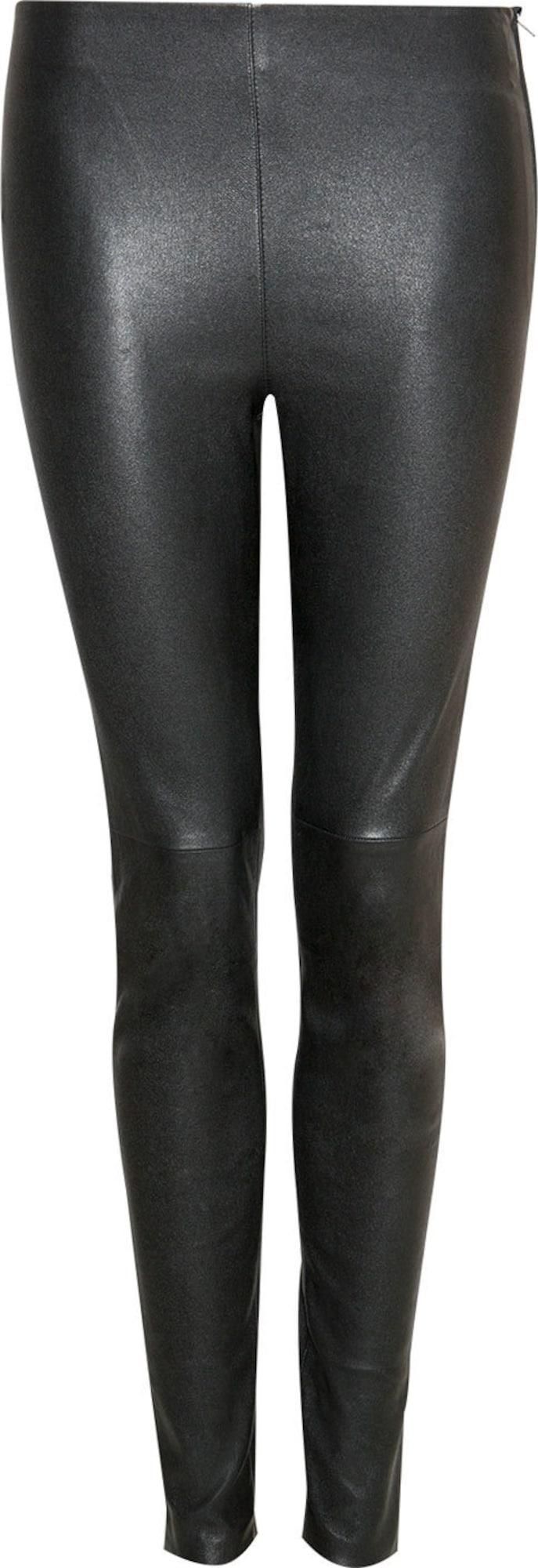 hallhuber leggings aus stretch leder in schwarz. Black Bedroom Furniture Sets. Home Design Ideas