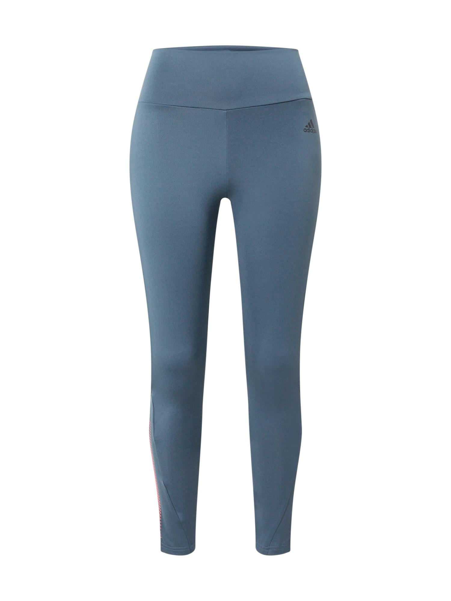 ADIDAS PERFORMANCE Sportinės kelnės mėlyna / rožių spalva