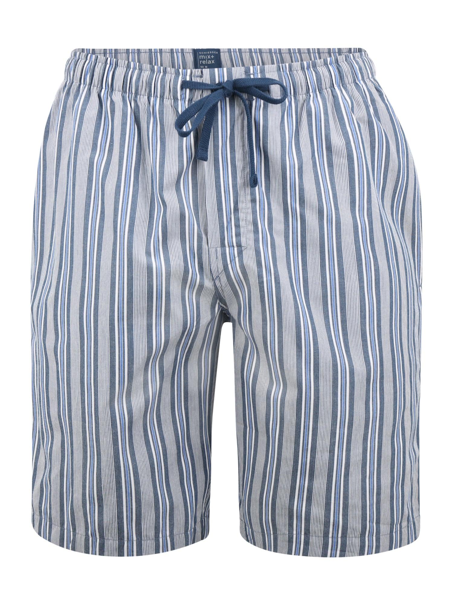 SCHIESSER Pižaminės kelnės mėlyna